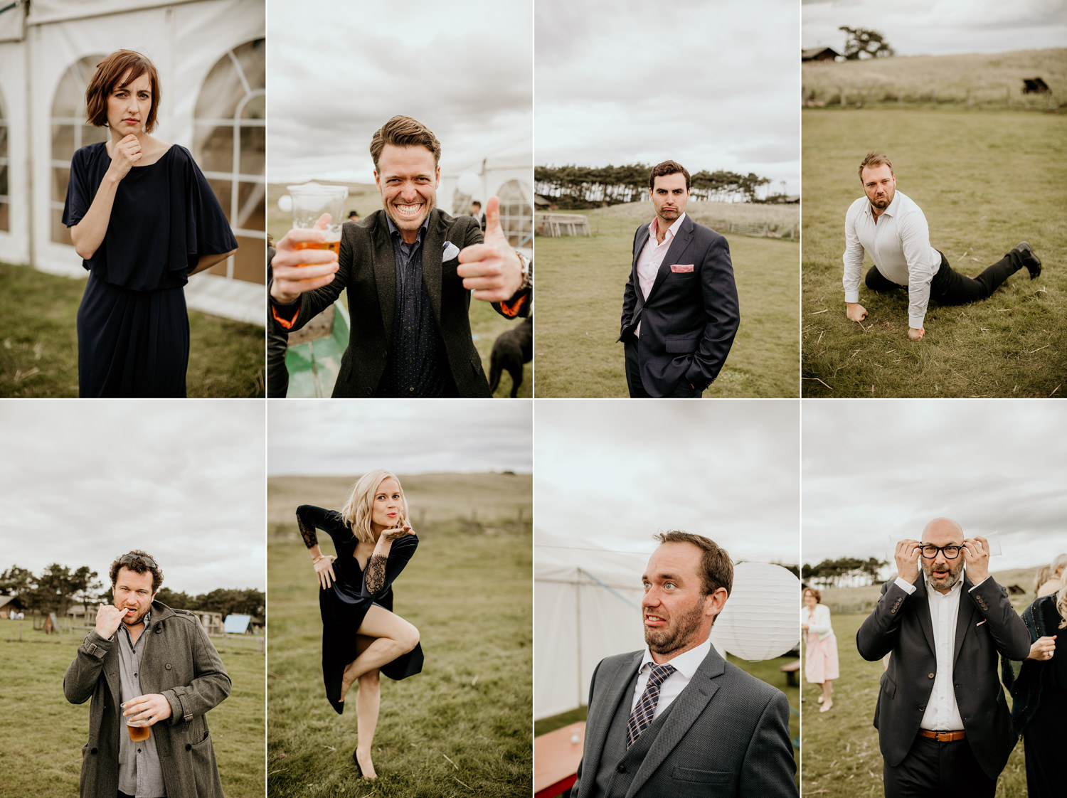 funny guests during the wedding reception at Harvest Moon Holidays Scotland