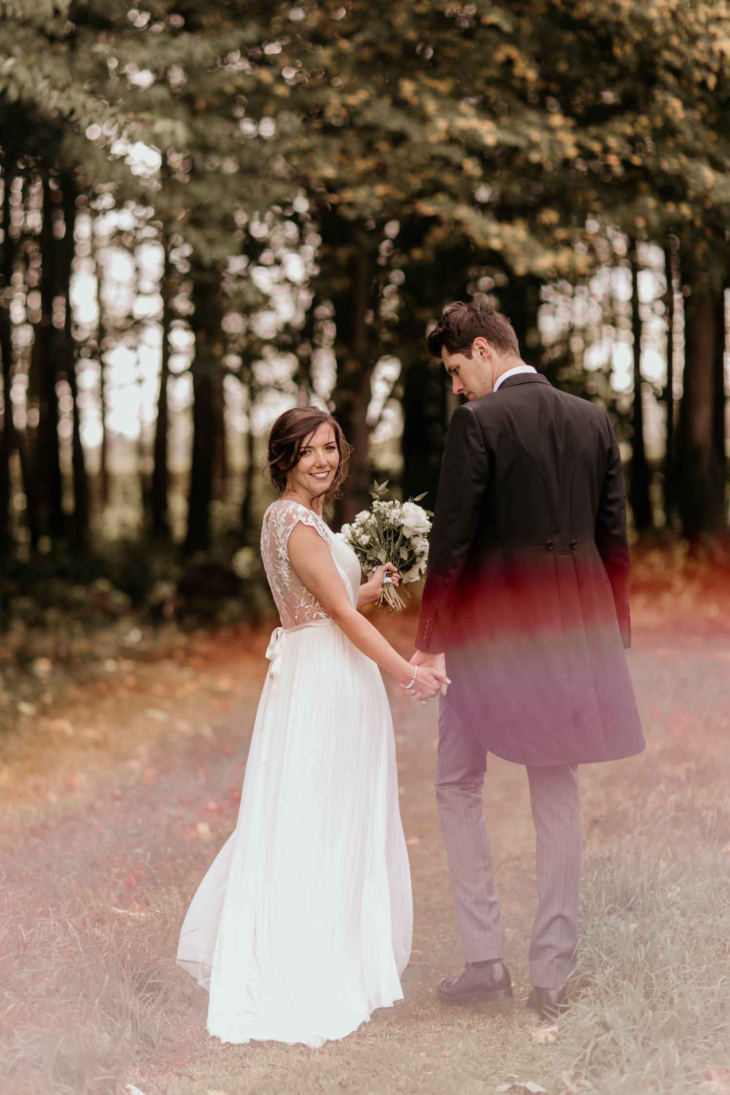 bride and groom bridal portraits by Cotswolds wedding photographer