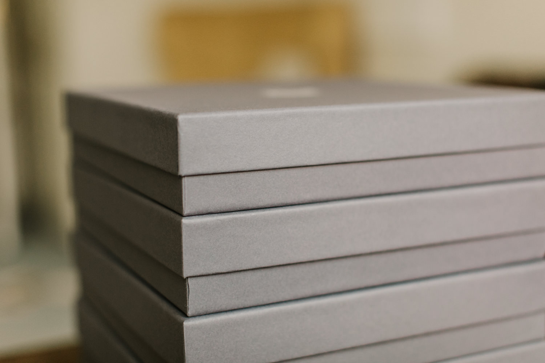 presentation box for leather wedding album