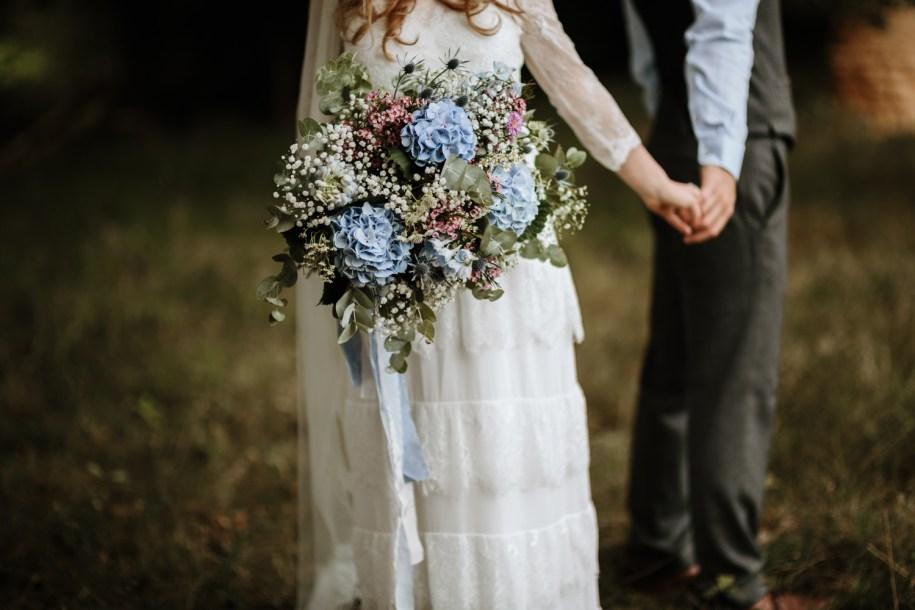 bohemian wedding bouquet for a boho style bride