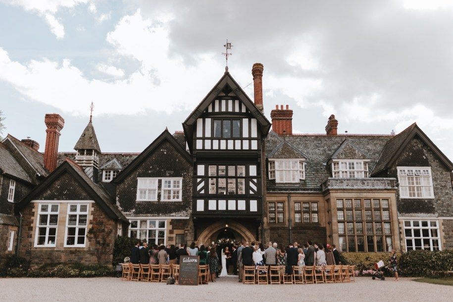 plas dinam country house outdoor wedding ceremony