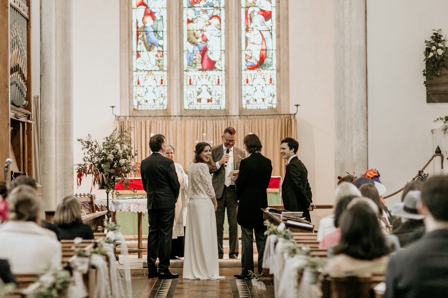 church wedding ceremony at Stroud by Cotswolds wedding photographers