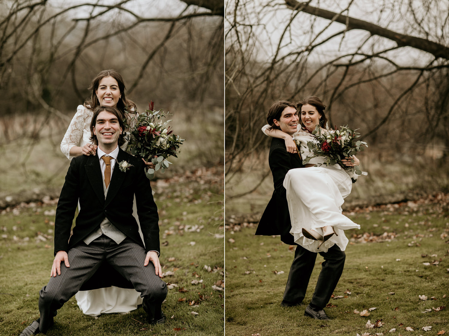 wedding portraits by Stroud wedding photographer, Green Antlers Photography