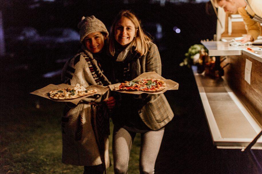 pizza van wedding reception ideas