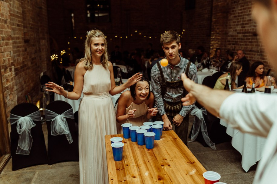 beer pong wedding cocktail hour games