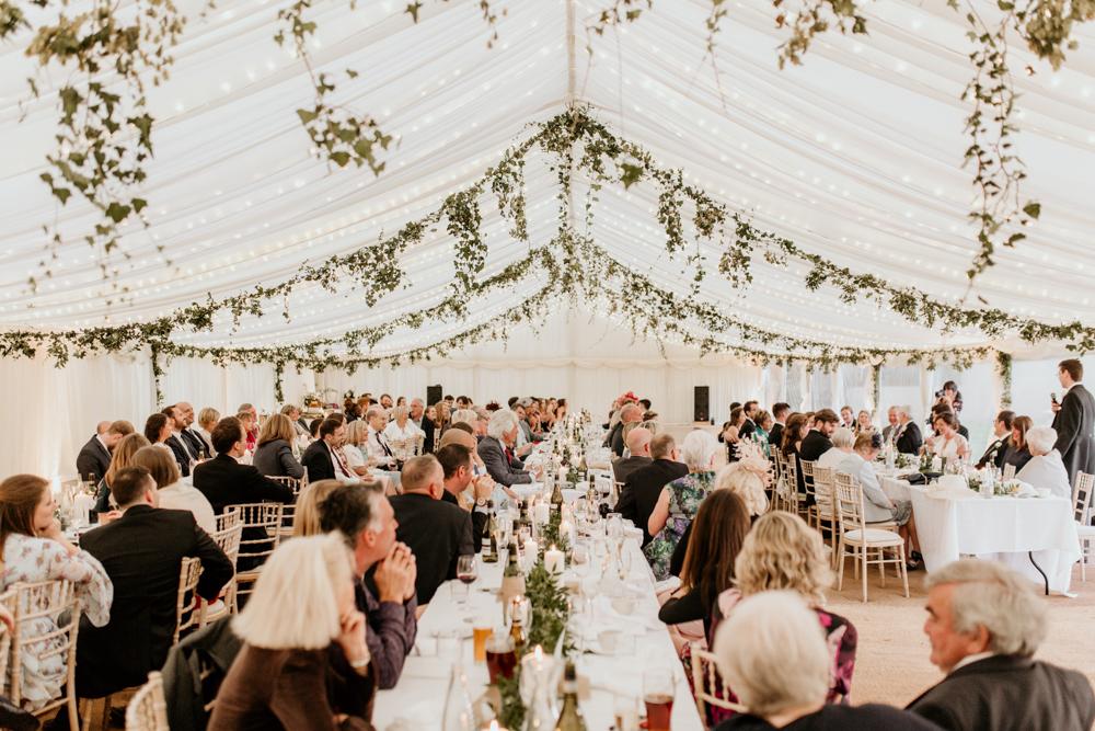 wedding tent for a Poulton wedding