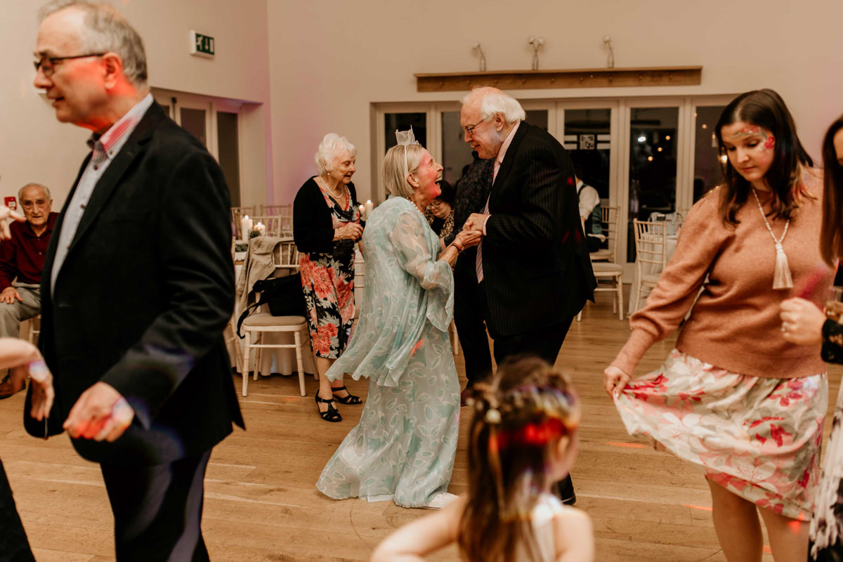 guests dancing at hyde house wedding venue