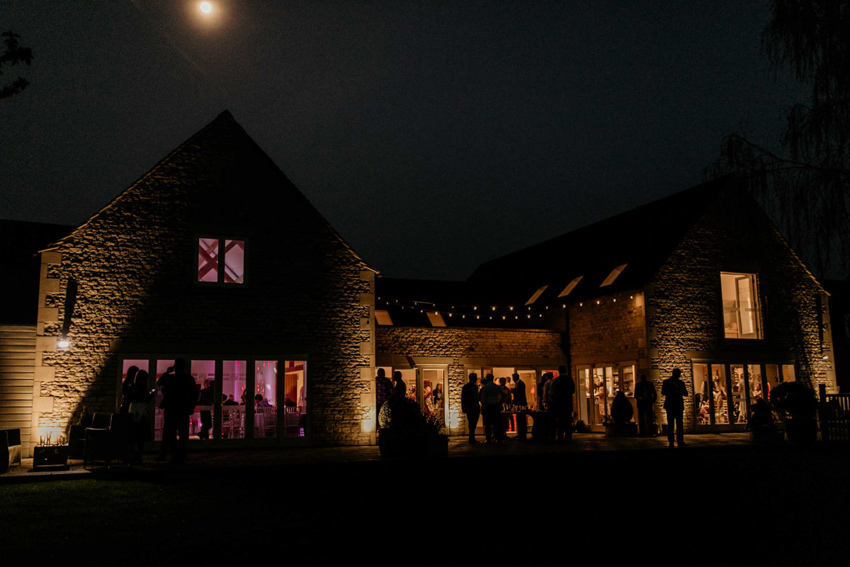 hyde house wedding venue in the evening