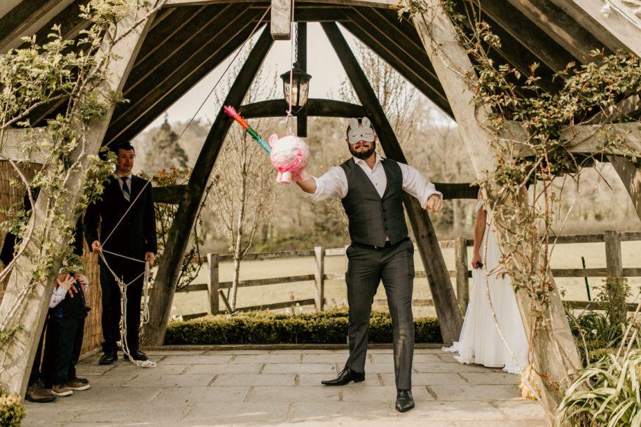 wedding cocktail hour games pinata