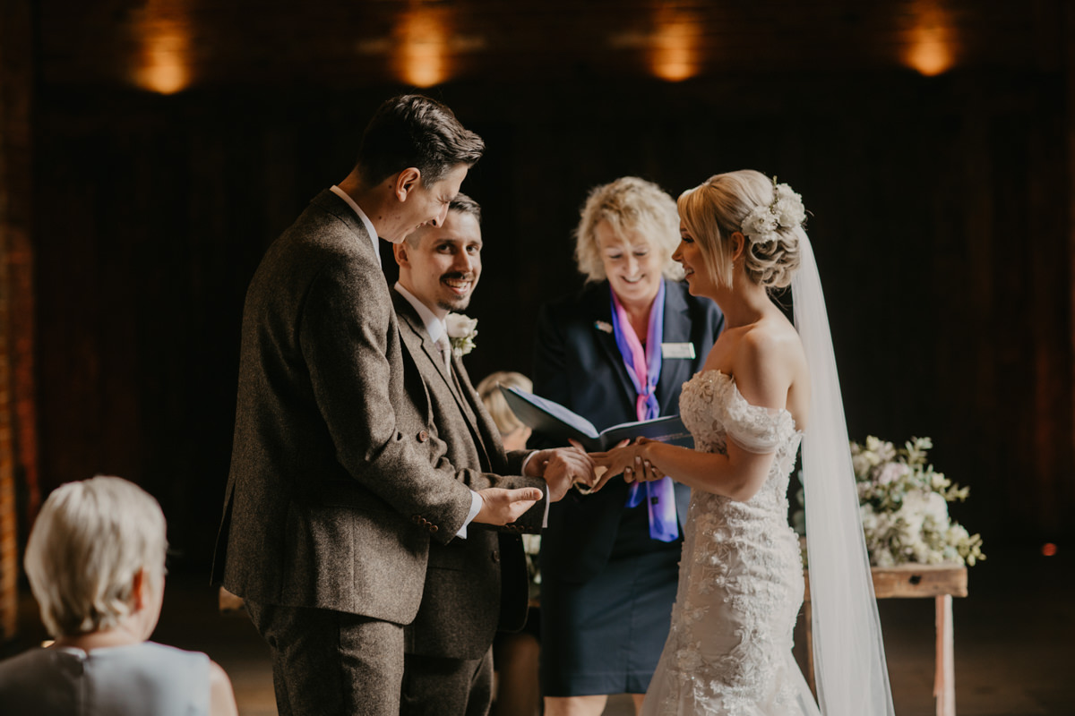 Shustoke Barn wedding ceremony