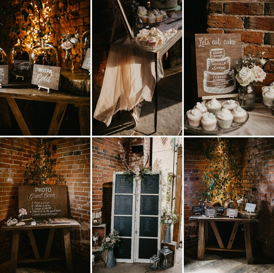 wedding details at Shustoke Barn venue in Warwickshire