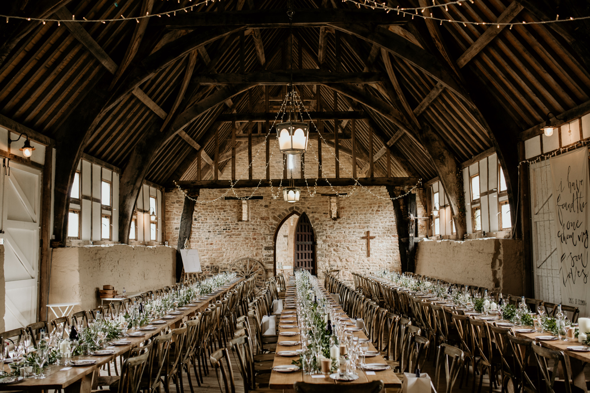 inside gloucestershire priors court barn wedding venue