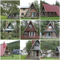 A-frame houses are too cute | greenapril