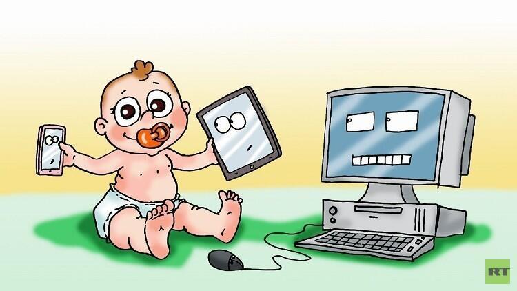 انتبهي  !!! العلماء يؤكدون ضرر الأجهزة الإلكترونية على الأطفال