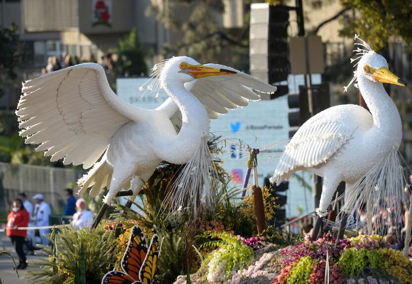 Les chars allégoriques Rose Parade sur le thème de l'environnement nous disent comment «faire la différence»