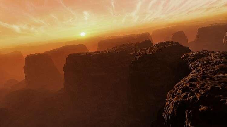 """اكتشاف """"بركان عظيم"""" على سطح المريخ"""