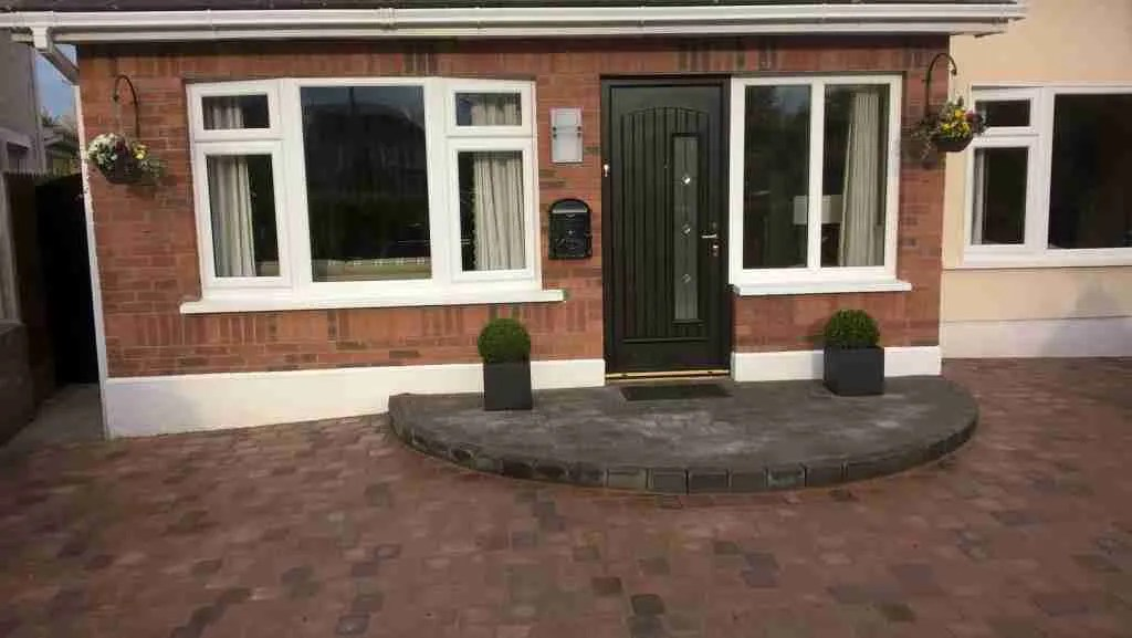 Redesigning A Driveway With A New Curved Front Step