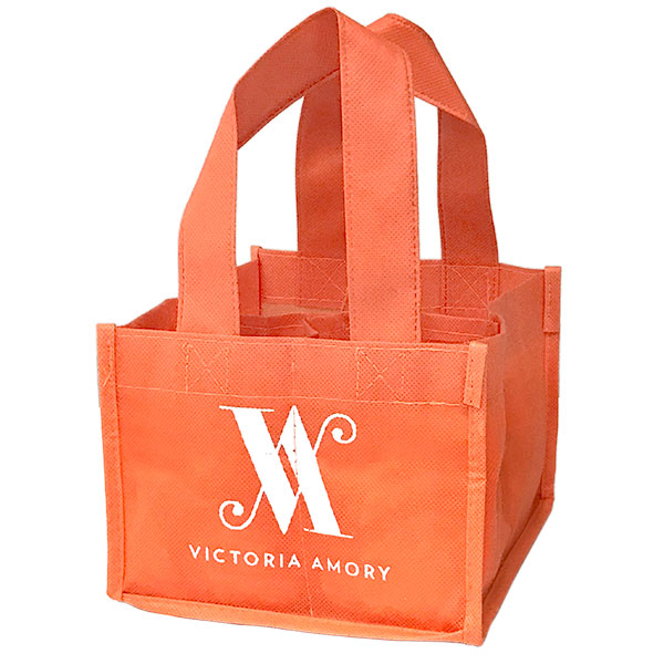 Eco-friendly orange reusable coffee to go bag