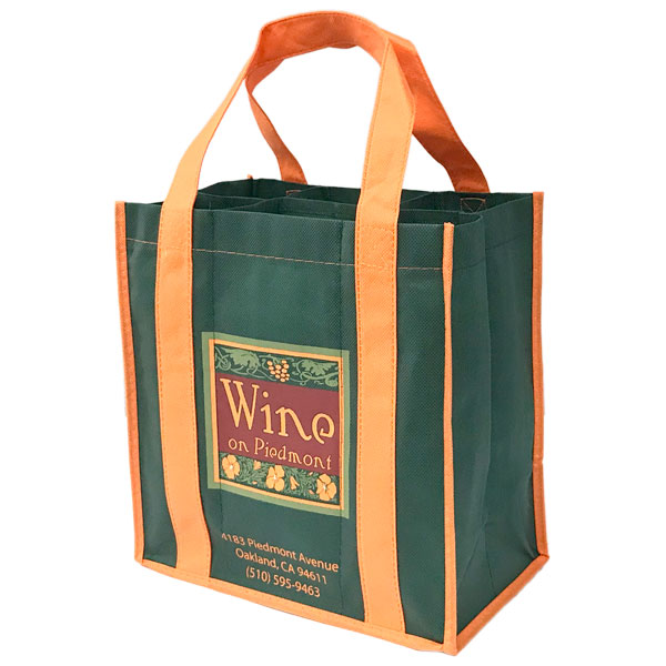 Eco-friendly 6 Bottle Wine Bag - two color