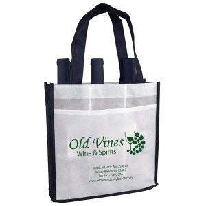 Old Vines eco-friendly 3 bottle wine bag