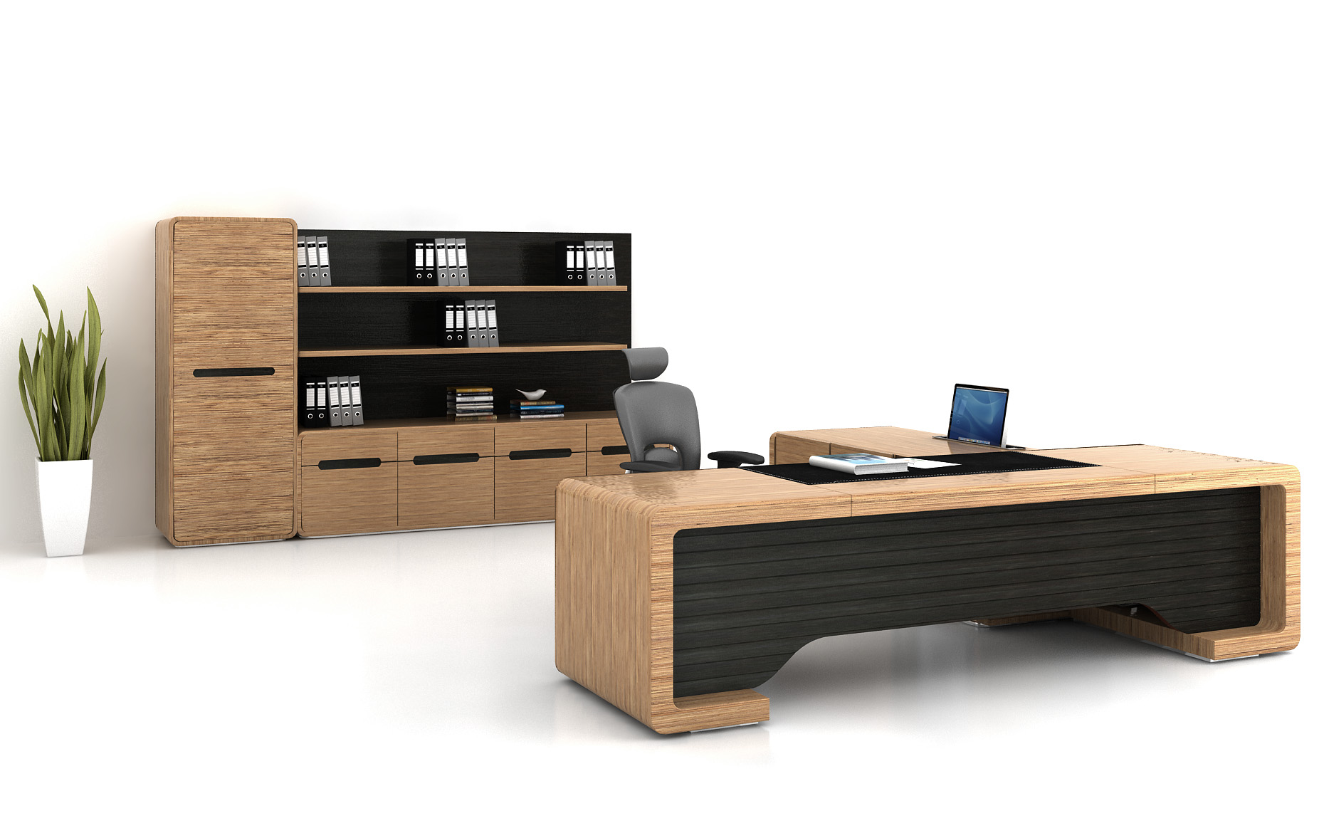 Bamboo Executive Desk  greenbamboofurniture