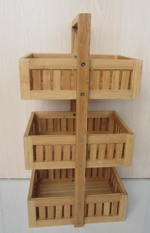 Bamboo Storage Baskets for Shelves