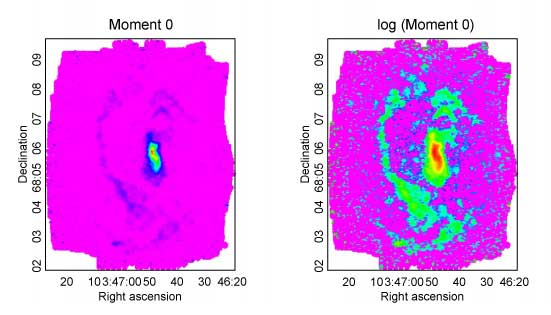 High resolution images of ground-state carbon monoxide spectral line
