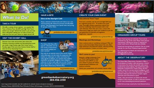 2020 Science Center Brochure inside spread