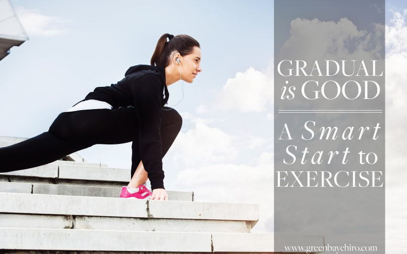 Gradual Start to Exercise Lifestyle Chiropractic Green Bay WI
