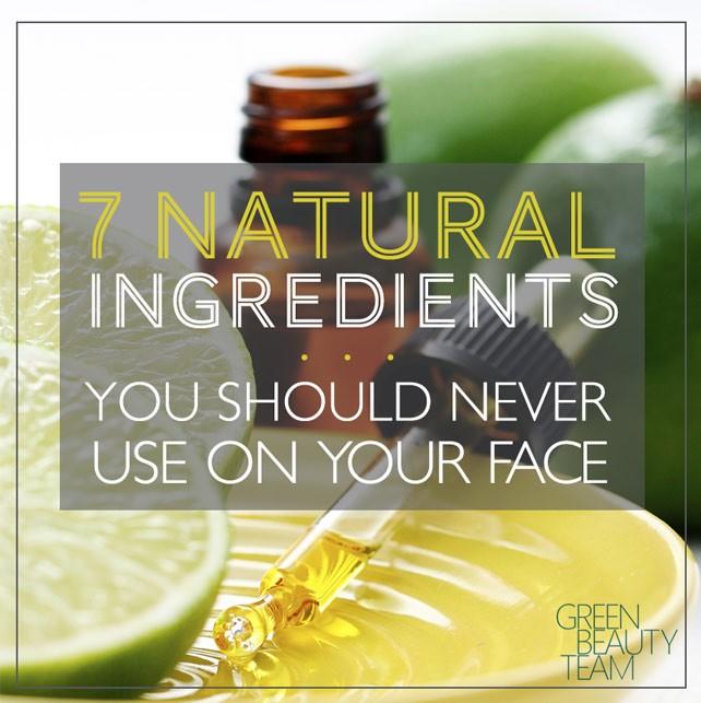 7 Natural DIY Skincare Ingredients You Should Never Use