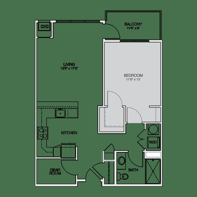 Floor Plan A  Greenbelt Apartments