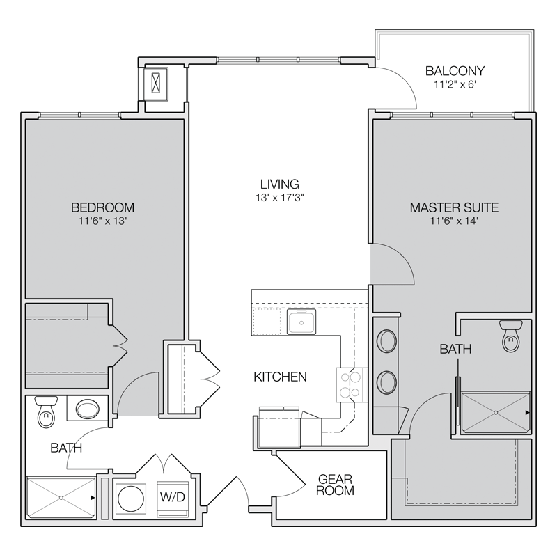 Floor Plan C  Greenbelt Apartments