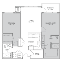 Floor Plan C - Greenbelt Apartments