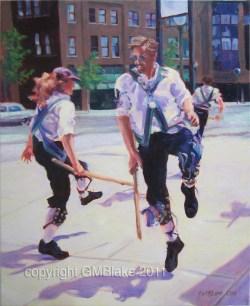 Hook-Leg, by Glenda Blake - oils on canvas, 16 x 20 in.
