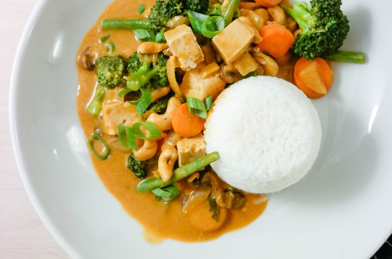 rød curry med tofu