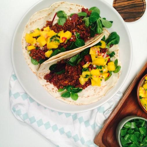 Vegansk taco med quinoa og chipotle i adobosaus - Green Bonanza