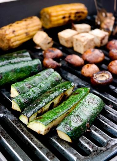 Grilla grønnsaker med tamarind-marinade