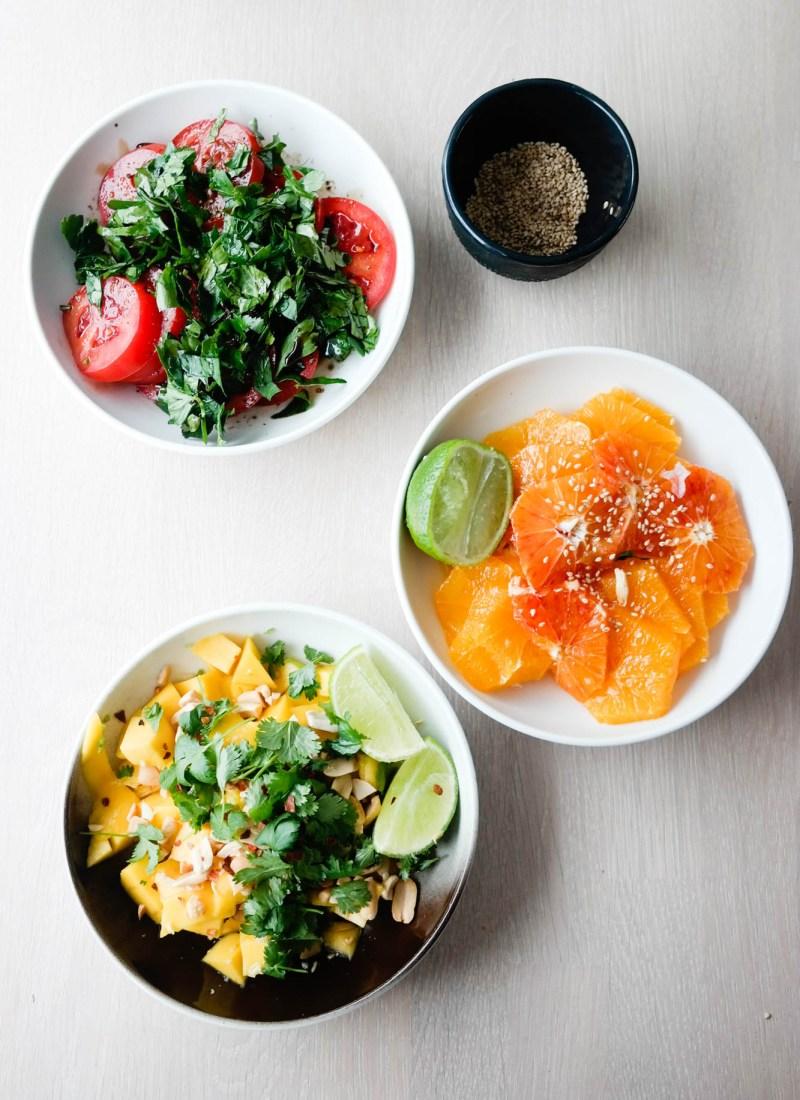 Hva gjør du når du har lyst på noe godt? Jo, lager tre forskjellige fruktsalater!