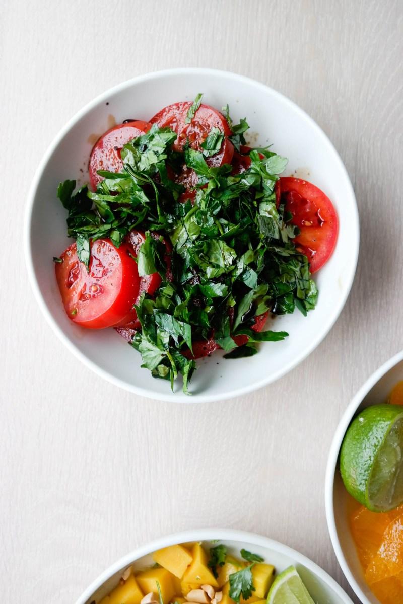 Tomater, balsamico og pepper