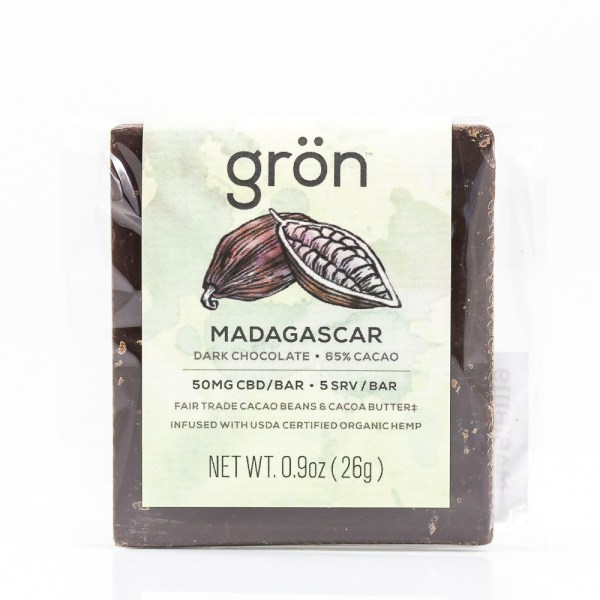 Grön CBD Madagascar Dark Chocolate Bar