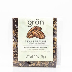 Grön CBD Texas Praline Dark & Milk Chocolate Bar
