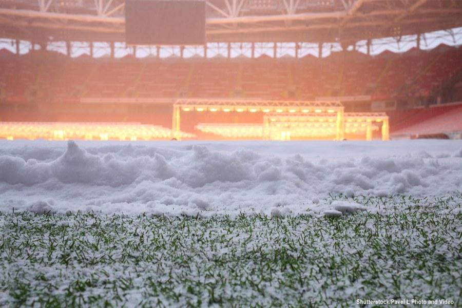 Stadium under snow mr