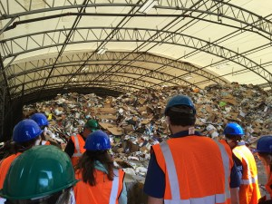 Green Check Businesses Tour Recycling Center