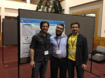 George and friends during poster session