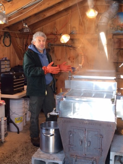 Charlie describes the boiling process needed to make pure maple syrup.