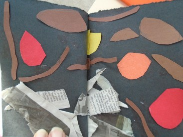 Our collages were bound into our books, though some students to use their collage as their book's cover.