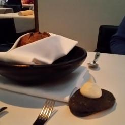 Bread with butter at Urbane Restaurant, Brisbane, Australia