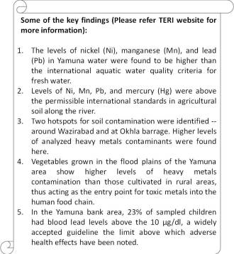 Impacts of pollution in river Yamuna_TERI Findings