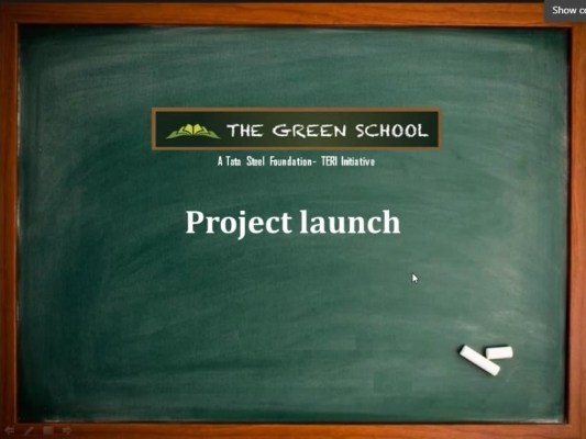 Project launch of Green School project, Tata Steel Foundation