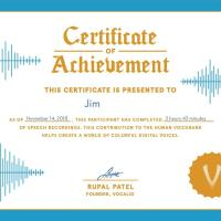 VocalID Certificate - 1500
